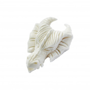 Nklaus Hair Beard Pearl Drago Dragon Head Bone Lockenperle 6991