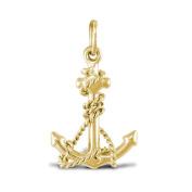 9ct Gold Anchor Charm Pendant