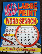 Mega Large Print Wordsearch Book 3 and 4