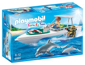 Playmobil 6981 Family Fun Diving Trip with Floating Speedboat