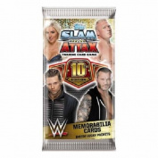 10x Topps WWE Slam Attax 10 Trading Card Game Booster Pack