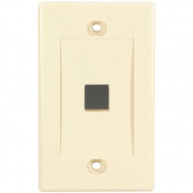 Black Box WPIV-1 Black Box Value Line Wallplate, Single-Gang, 1-Port, Ivory - 1 x Socket(s) - 1-gang - Ivory