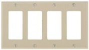 DECO 4 GANG WALL PLATE IVORY