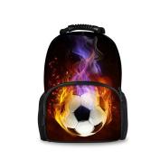 HUGSIDEA Cool Soccer Football Pattern Backpack Men Sport Travel Hilking Bagpack