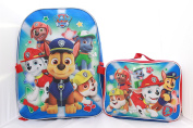 Paw Patrol Boys Blue Bookbag Backpack Lunch Box SET School Kids