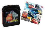 Disney Pixar Cars 3 Lunch Box Sandwich Keeper Featuring Ligthning McQueen & Jackson Storm! Plus Bonus Cars 3 Stickers!