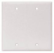 Arrow Hart 2137 Blank Standard Wall Plate, 2 Gang, 10cm - 1.3cm L x 12cm W x 0.2cm T, White