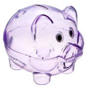 TOOGOO(R) Cute Plastic Pig Clear Piggy Bank Coin Box Money Cash Saving Case Kids Toy Gift