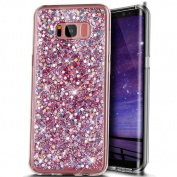 Galaxy S8 Plus Case,Galaxy S8 Plus Glitter Case,PHEZEN Shiny Sparkling Hexagonal Ultra Slim Luxury Bling Soft Rubber Gel TPU Bumper Protective Silicone Back Case for Samsung Galaxy S8 Plus