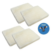 HQRP 4-pack Wick Filter for Gerry 650 / Touch Point KS55EE-06A Humidifiers plus HQRP Coaster