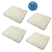 HQRP 4-pack Wick Filter for Holmes HM250 HM405 HM406 HM650 HM725 HM726 HM730 Humidifiers, HWF-55 / HWF55 Replacement + HQRP Coaster