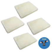 HQRP 4-pack Wick Filter for Holmes HM1000 HM1025 HM1050 HM2000 HM1550 HM1555 Humidifiers, HWF-55 HWF55 H55-C Replacement + HQRP Coaster