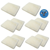HQRP 10-pack Wick Filter for Gerry 650 / Touch Point KS55EE-06A Humidifiers plus HQRP Coaster