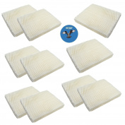 HQRP 10-pack Humidifier Wick Filter for Super 43-5014-6 Replacement fits Super RW-3 RW3, Super 43-5014-6, Super 43-5024-2 + HQRP Coaster