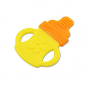 DISIANI Soft Silicone Chewable Teething Bottle Shape Tether