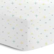 Oliver Gal Artist Co. Signature Collection 'Stars' Printed Crib Sheet