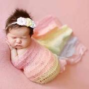 ZTL Newborn Baby Photography Props Long Ripple Wrap Soft Stretch Wrap Photo Blanket