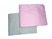 Baby Doll Bedding 2 Piece Cradle Sheet Set, Grey/Pink