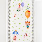 Rookie Humans 100% Cotton Sateen Fitted Crib Sheet