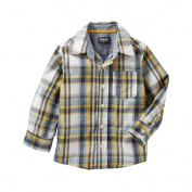 OshKosh B'Gosh Big Boys Plaid Button-Front Shirt Yellow Multi 8