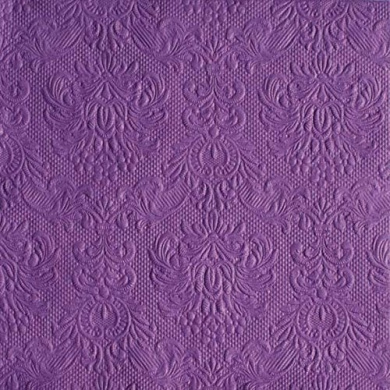 Ambiente Servietten Lunch / Party / ca. 33x33cm Elegance Purple - Wedding - Embossed - ideal as Gift