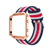 Band For Fitbit Blaze, Toamen Fine Woven Nylon Adjustable Replacement Band Sport Strap for Fitbit Blaze