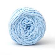Celine lin One Skein Super Soft Baby Blanket Big Warm Scarf Yarn Crochet Yarn,Sky blue