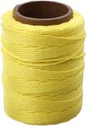 The Cordage Source 89Y-WA Twisted Nylon Seine Twine, #18 x 250\', Yellow