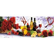 5D DIY Crystals Diamond,Awakingdemi Rose and Wine 5D Diamond DIY Painting Kit Home Decor Craft 30 X 75cm