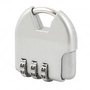 Unique Bargains Jewellery Box Resettable 3 Digits Combination Code Password Padlock Silver Tone
