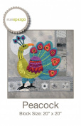 Peacock pattern by Sue Spargo Wool Applique 50cm x 50cm