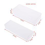 GaoCold Rectangular Clear Plastic Storage Box Jewellery Container Case Bead Organiser Case (2#