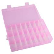 Sinfu Adjustable 24 Compartment Plastic Storage Box Jewellery Case