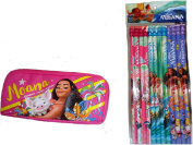 Disney Moana Wood Pencils and Accessories/ Pencil Case