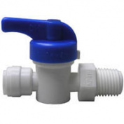 Watts PL-3042 Push-Fit Quick Connect Straight Stop Valve, 1cm , OD X MPT, 150 psi, CPVC Body, Leve