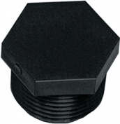 Green LEAF F 200 HD Hexagonal Pipe Plug, 5.1cm , MNPT, Polypropylene