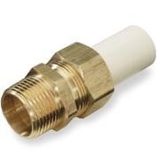 King Brothers Inc. TUM-0500-GD 1.3cm Male PXL CPVC X Low Lead Brass Transition Union, Tan