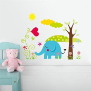 [Elephant] Winnie the Pooh friends wall stickers for kids rooms decorative sticker adesivo de parede removable pvc wall decal