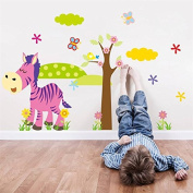 [Zebra] Winnie the Pooh friends wall stickers for kids rooms decorative sticker adesivo de parede removable pvc wall decal