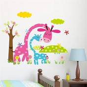 [Giraffe] Winnie the Pooh friends wall stickers for kids rooms decorative sticker adesivo de parede removable pvc wall decal