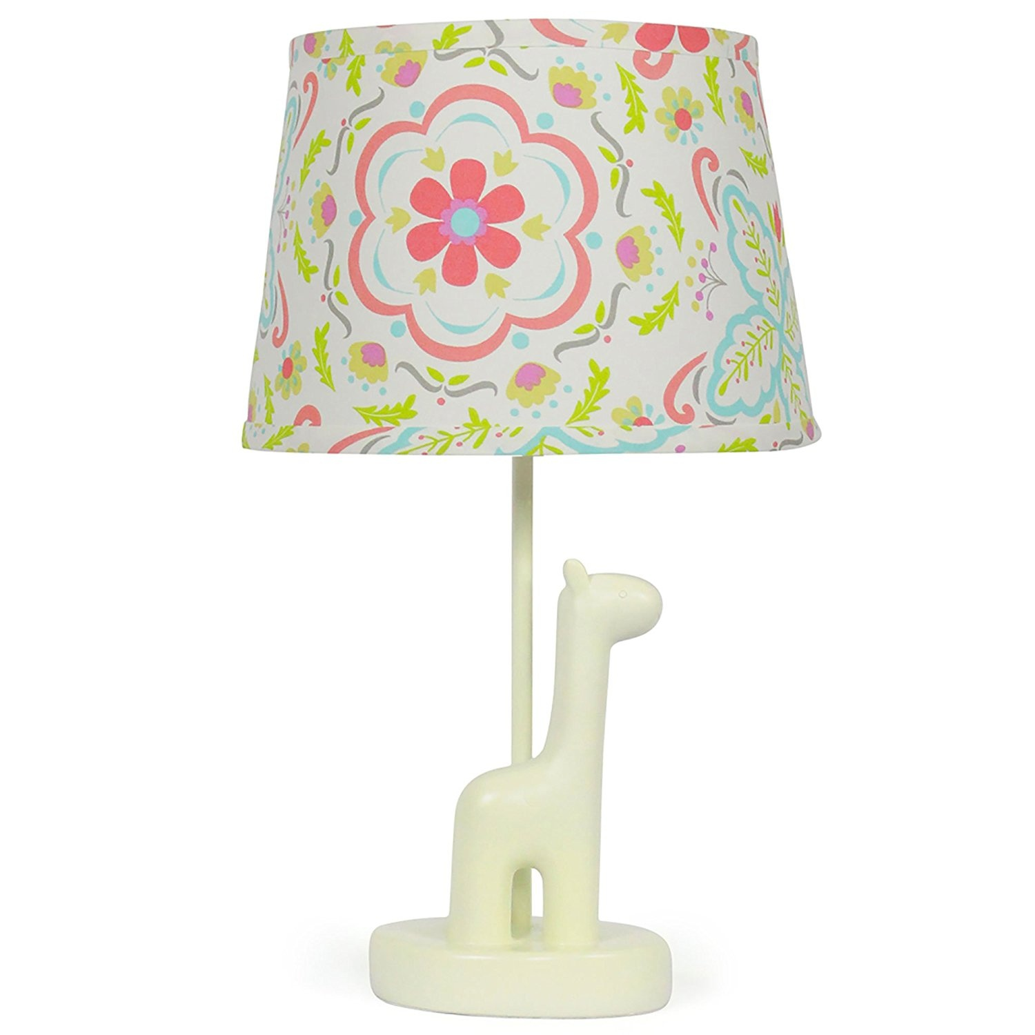 Coral floral nursery lamp shade with white giraffe base cfl bulb coral floral nursery lamp shade with white giraffe base cfl bulb included by the peanut shell shop online for baby in australia aloadofball Choice Image