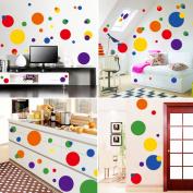 Uniquebella Creative Stickers Multicoloured circles Living Room Background Wall Sticker Bedroom 50x70cm