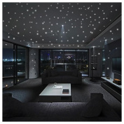 Polka Dots Wall Stickers, Inkach 407Pcs Luminous Home Stickers Glow In The Dark Star Wall Stickers for Kids Room Decor