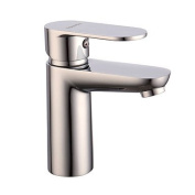 SHENCHI Contemporary Brass Basin Mixer With Chrome Finish