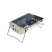 Stainless Steel Barbecue Pits Outdoor Portable Charcoal Ovens Thickened Foldable Barbecue Grill Outdoor Charcoal Oven Thick Grill