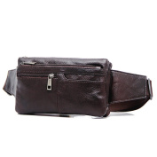 Waist Bags For Travel Genuine Leather Fanny Pack 6 Pockets Sling Bags Waist Pack