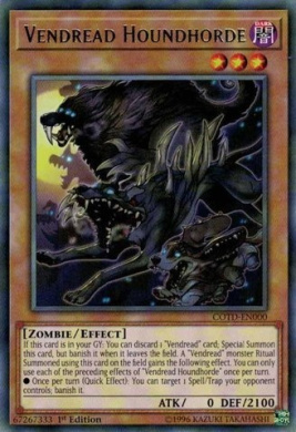 Vendread Houndhorde - COTD-EN000 - Rare - 1st Edition - Code of the Duelist (1st Edition)