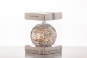 Wedding Gift Friendship Ball, 10cm, silver, gift boxed with ribbon and gift tag
