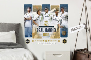 Imagicom wallrm02 Real Madrid Wall Decorative Sticker, Model Graphics Players, PVC, multicoloured, 0.1 X 49 X 68.5 cm