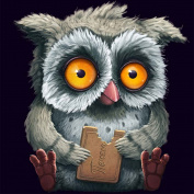 KAYI 5D Diamond Painting Owl Cross Stitch Crafts Rhinestone Embroidery Home Decor